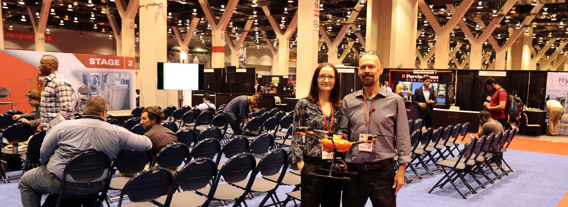 Helen Pukszta & Steve Akins at Chicago Build 2019 Expo at McCormick Place