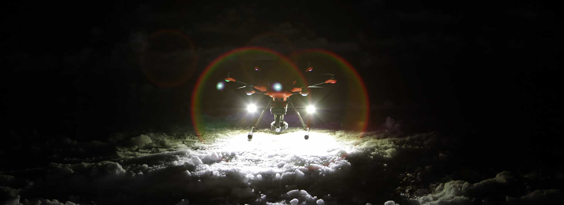Yuneec H520 drone night flight